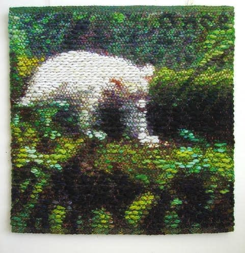 Front side of Spirit Bear study by Helena Hernmarck