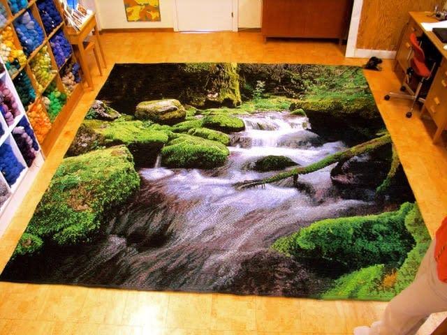 Studio where Helena Hernmarck's Spirit Bear tapestry was created