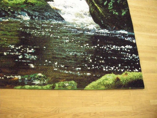 Water detail of Spirit Bear tapestry