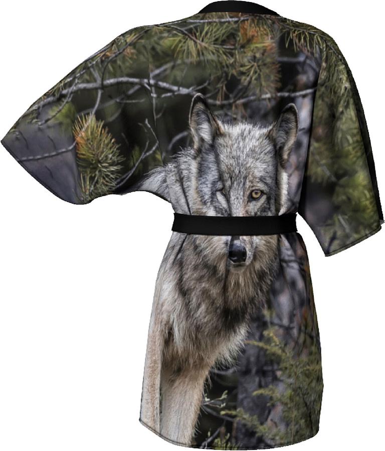 Back to Nature Apparel Wolf Kimono
